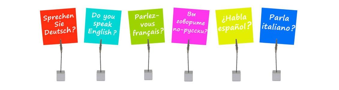 Sprachtrainings - Sprachen lenen in über 20 Sprachen
