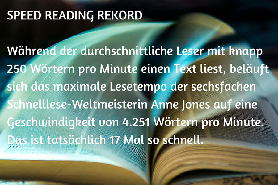 Speed Reading Rekord